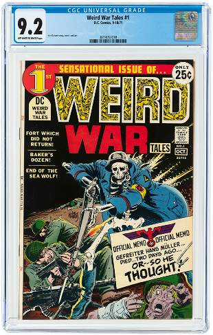 WEIRD WAR TALES #1 SEPTEMBER/OCTOBER 1971 CGC 9.2 NM-.