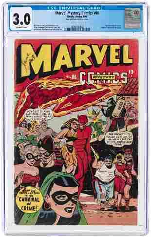 MARVEL MYSTERY COMICS #86 JUNE 1948 CGC 3.0 GOOD/VG.