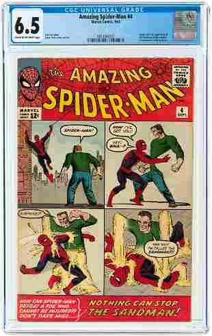AMAZING SPIDER-MAN #4 SEPTEMBER 1963 CGC 6.5 FINE+