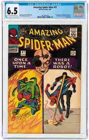 AMAZING SPIDER-MAN #37 JUNE 1966 CGC 6.5 FINE+ (FIRST