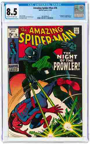 AMAZING SPIDER-MAN #78 NOVEMBER 1969 CGC 8.5 VF+ (FIRST