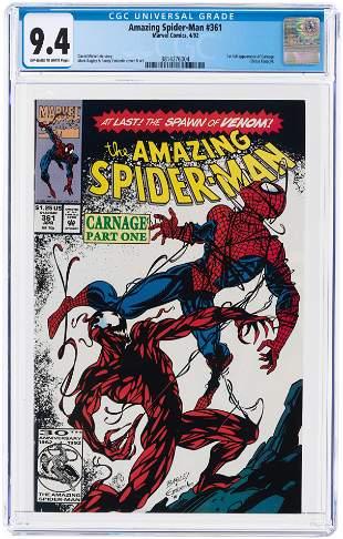 AMAZING SPIDER-MAN #361 APRIL 1992 CGC 9.4 NM (FIRST