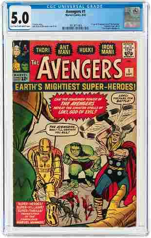 AVENGERS #1 SEPTEMBER 1963 CGC 5.0 VG/FINE (FIRST