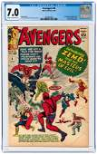 AVENGERS #6 JULY 1964 CGC 7.0 FINE/VF (FIRST BARON ZEMO