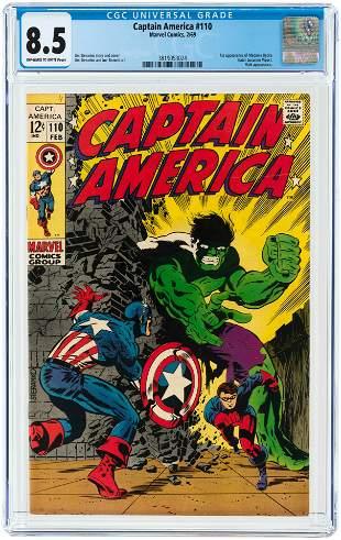 CAPTAIN AMERICA #110 FEBRUARY 1969 CGC 8.5 VF+ (FIRST