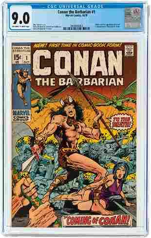 CONAN THE BARBARIAN #1 OCTOBER 1970 CGC 9.0 VF/NM