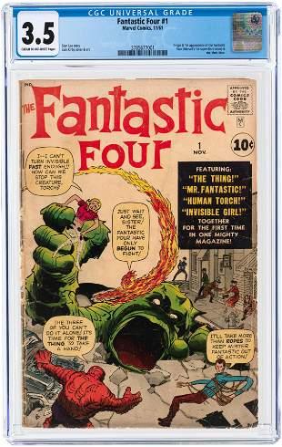 FANTASTIC FOUR #1 NOVEMBER 1961 CGC 3.5 VG- (FIRST
