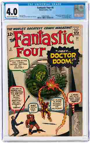 FANTASTIC FOUR #5 JULY 1962 CGC 4.0 VG (FIRST DR.