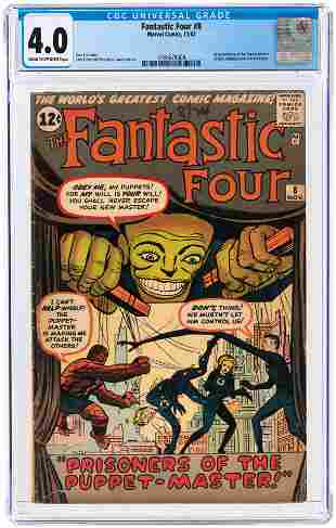 FANTASTIC FOUR #8 NOVEMBER 1962 CGC 4.0 VG (FIRST