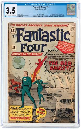 FANTASTIC FOUR #13 APRIL 1963 CGC 3.5 VG- (FIRST RED