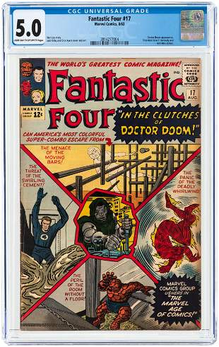 FANTASTIC FOUR #17 AUGUST 1963 CGC 5.0 VG/FINE.