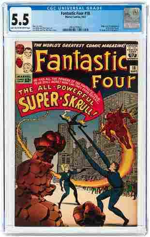 FANTASTIC FOUR #18 SEPTEMBER 1963 CGC 5.5 FINE- (FIRST