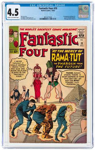 FANTASTIC FOUR #19 OCTOBER 1963 CGC 4.5 VG+ (FIRST