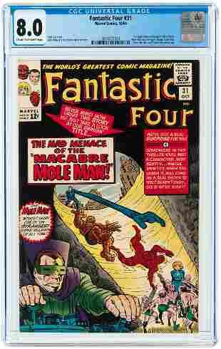 FANTASTIC FOUR #31 OCTOBER 1964 CGC 8.0 VF.