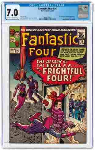 FANTASTIC FOUR #36 MARCH 1965 CGC 7.0 FINE/VF (FIRST