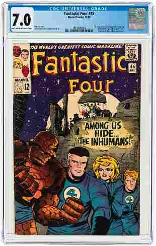 FANTASTIC FOUR #45 DECEMBER 1965 CGC 7.0 FINE/VF (FIRST