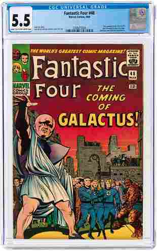 FANTASTIC FOUR #48 MARCH 1966 CGC 5.5 FINE- (FIRST