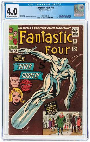 FANTASTIC FOUR #50 MAY 1966 CGC 4.0 VG.