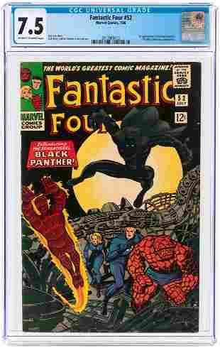 FANTASTIC FOUR #52 JULY 1966 CGC 7.5 VF- (FIRST BLACK