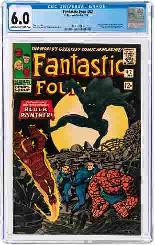 FANTASTIC FOUR #52 JULY 1966 CGC 6.0 FINE (FIRST BLACK