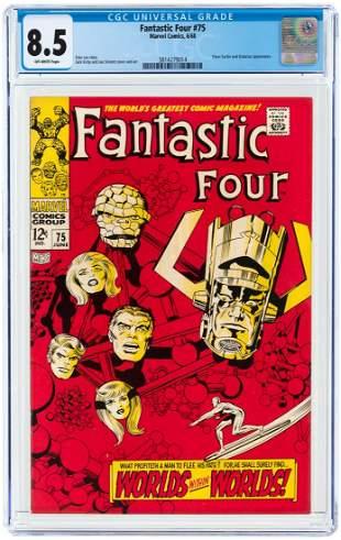 FANTASTIC FOUR #75 JUNE 1968 CGC 8.5 VF+.