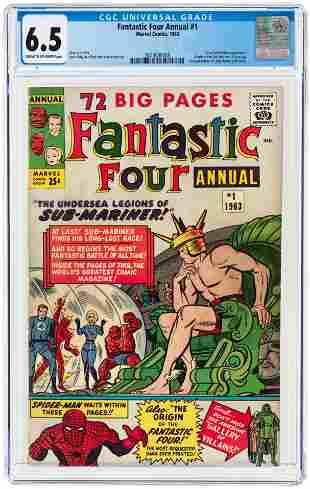 FANTASTIC FOUR ANNUAL #1 1963 CGC 6.5 FINE+ (FIRST LADY