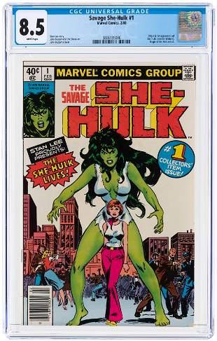 SAVAGE SHE-HULK #1 FEBRUARY 1980 CGC 8.5 VF+ (FIRST