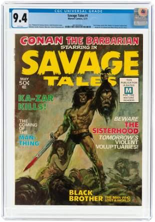 SAVAGE TALES #1 MAY 1971 CGC 9.4 NM.