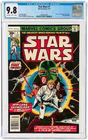 STAR WARS #1 JULY 1977 CGC 9.8 NM/MINT.