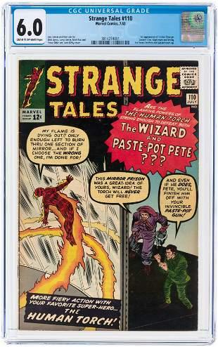 STRANGE TALES #110 JULY 1963 CGC 6.0 FINE (FIRST DOCTOR