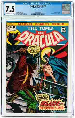 TOMB OF DRACULA #10 JULY 1973 CGC 7.5 VF- (FIRST BLADE