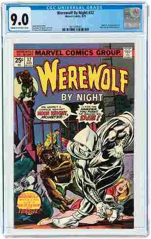 WEREWOLF BY NIGHT #32 AUGUST 1975 CGC 9.0 VF/NM (FIRST