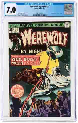 WEREWOLF BY NIGHT #33 SEPTEMBER 1975 CGC 7.0 FINE/VF.
