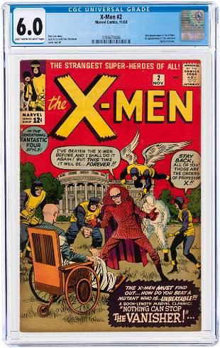 X-MEN #2 NOVEMBER 1963 CGC 6.0 FINE.