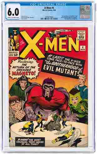 X-MEN #4 MARCH 1964 CGC 6.0 FINE (FIRST QUICKSILVER,