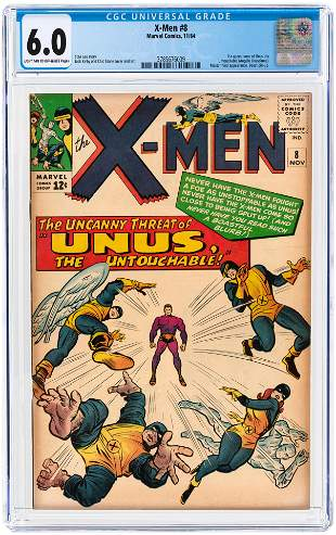 X-MEN #8 NOVEMBER 1964 CGC 6.0 FINE (FIRST UNUS THE