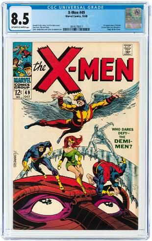X-MEN #49 OCTOBER 1968 CGC 8.5 VF+ (FIRST POLARIS).