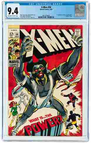 X-MEN #56 MAY 1969 CGC 9.4 NM (FIRST LIVING MONOLITH).