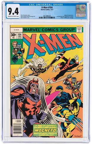 X-MEN #104 APRIL 1977 CGC 9.4 NM (FIRST STARJAMMERS IN
