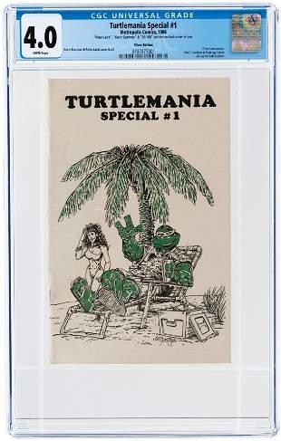 TURTLEMANIA SPECIAL #1 1986 CGC 4.0 VG (SILVER EDITION)