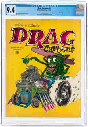 DRAG CARTOONS #1 JUNE-JULY 1963 CGC 9.4 NM (FILE COPY).