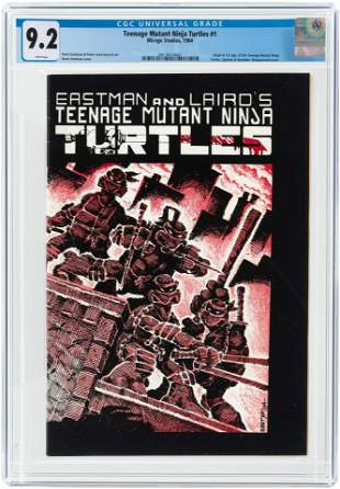 TEENAGE MUTANT NINJA TURTLES #1 1984 CGC 9.2 NM- (FIRST