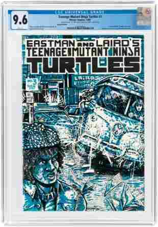 TEENAGE MUTANT NINJA TURTLES #3 1985 CGC 9.6 NM+ (FIRST