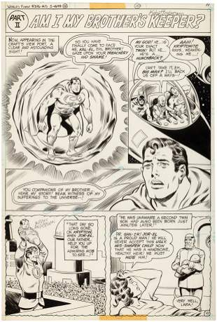 WORLD'S FINEST #246 COMIC BOOK PAGE ORIGINAL ART BY