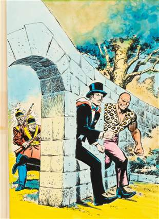 MANDRAKE #4 SPANISH COMIC BOOK COVER ORIGINAL ART BY