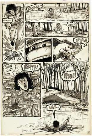 TEENAGE MUTANT NINJA TURTLES #11 COMIC BOOK PAGE