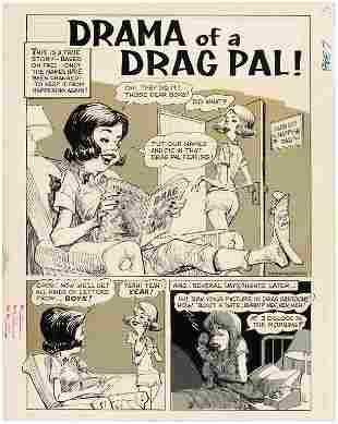 "DRAG CARTOONS #20 ""DRAMA OF A DRAG PAL!"" COMPLETE COMIC"