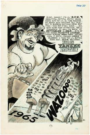 BIG DADDY ROTH #4 COMPLETE COMIC STORY ORIGINAL ART BY