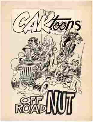 "CARtoons ""OFF ROAD NUT"" COMIC PIN-UP ORIGINAL ART BY"