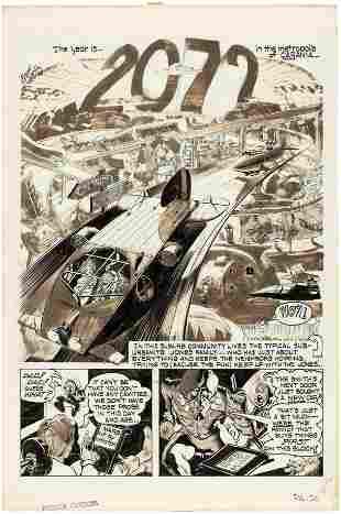 "CARtoons ""2072"" COMPLETE COMIC STORY ORIGINAL ART BY"